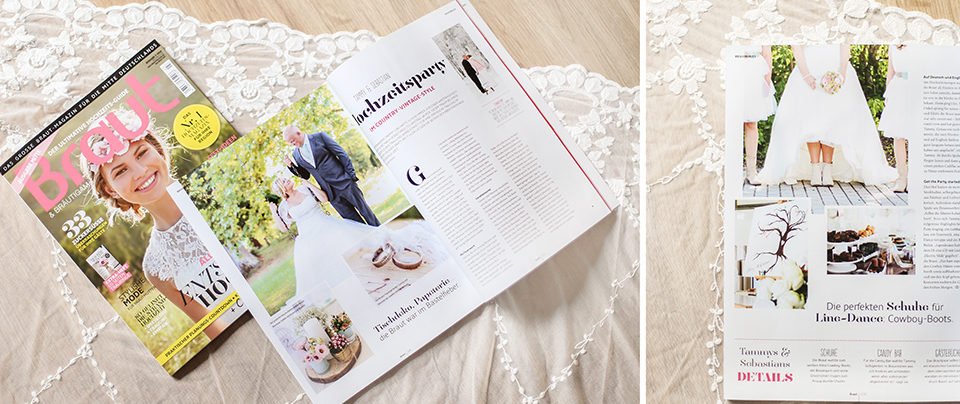 Veröffentlichung im Braut Magazin